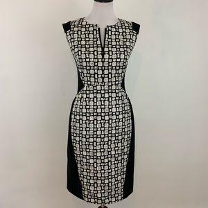Lafayette 148 Sleeveless Illusion Dress Sheath